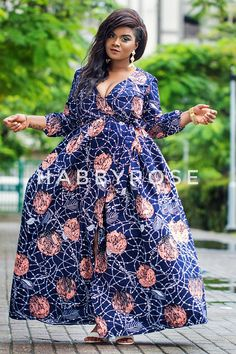 This beautiful Maxi dress is handmade with love from quality vlisco African print. It is a complete wrap dress with a slightly gathered Waist. The dress is partly lined and fitted with belt at the waist. It has a three-quartered sleeve with a slightly elastic hem. The dress length is