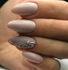 Lovely beige nail polish