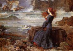Cave to Canvas, Miranda, The Tempest - John William Waterhouse,...
