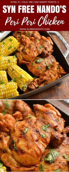 This is the Ultimate Syn Free Nando's Peri Peri Chicken Fakeaway - a truly mouthwatering delicious meal you can create at home. Gluten Free, Dairy Free, Slimming World and Weight Watchers friendly   www.slimmingeats.com #slimmingworld #weightwatchers #chicken #Periperi