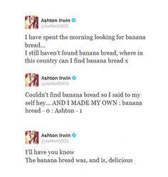 I wanna eat the banana bread :3