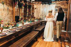 Boho Wedding, Bohemian Wedding, Wild flowers, colorful wedding, yellow wedding, semi naked wedding cake, macrame, farm tables, couple in love, styled shoot, real wedding, floral backdrop, flower backdrop, flower crown, boho dress, boho wedding dress, wedding, wedding dress, bride and groom.