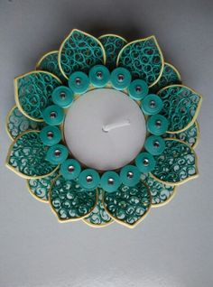 Quilling candle holder from Sanskruti Art & Crafts...