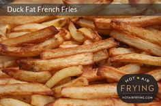 Recipes, resources, model purchase and use and care information about hot air frying machines. Air Fry French Fries, Air Fryer Fries, Air Fryer Deals, Duck Fat Fries, Fried Chips, Actifry Recipes, Air Fryer Review, Fish And Chip Shop, Homemade French Fries