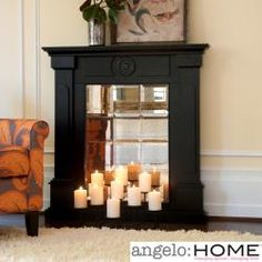 angelo:Home Beekman Mirrored Mantel Facade | Overstock.com Shopping - Great Deals on Upton Home Indoor Fireplaces
