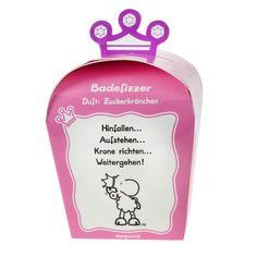 """Badefizzer """"Krone rcihten"""" von sheepworld. Mit herrlichem Prinzessinen-Duft! http://sheepworld.de/shop/nach-Serien-Motive/Krone/Badefizzer-KRONE.html"""
