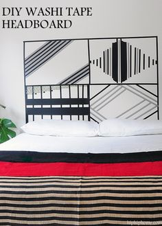 EASY WASHI TAPE HEADBOARD - HIP HIP HOME!
