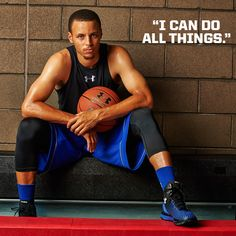 """I can do all things."" - Stephen Curry #MotivationMonday #Basketball #UnderArmour"