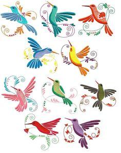 Bordado de máquina de colibríes descargar por StarlightDreamsLLC Hand Embroidery Designs, Embroidery Patterns, Machine Embroidery, Bordado Jacobean, Mexican Embroidery, Stencil Patterns, Bird Drawings, Mexican Art, Watercolor Cards