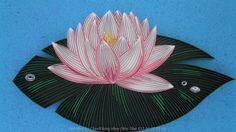 Made by Sweeta Lana- Pictures about quilled Lotus and Water lily (Searched by Châu Khang)