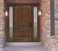 1000 images about front entry door on pinterest front - Steel vs fiberglass exterior door ...