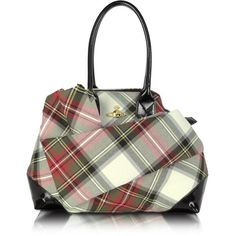 Vivienne Westwood Winter Tartan Jasmin Tote (204.295 HUF) ❤ liked on Polyvore featuring bags, handbags, tote bags, purses, taschen, man tote bag, tote purses, plaid tote bag, handbag purse and patent leather tote