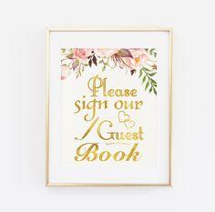 Gelieve aan te melden ons gastenboek afdrukbare door BaloeDesigns