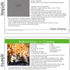 This isn't food but what better place? Free downloadable Recipe Card Template