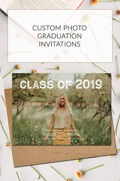 Senior Invitations, Graduation Invitations College, High School Graduation, Grad Invites, Senior Year Of High School, Graduation Parties, Graduation Decorations, Graduation Cards, Graduation Ideas
