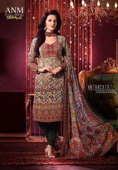 #Vaishali Digital Delight Print #Crepe #SalwarKameez Suit 1008 #Green