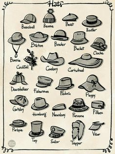 Any day is a good day for a hat day! In animation, hats is a great accessories t… Any day is a good day for a hat day! In animation, hats is a great accessories to add for crowd variation. We usually pick a few shape then…