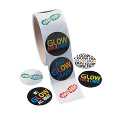 Glow Run Roll of Stickers - OrientalTrading.com