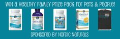 Nordic Naturals Healthy Family Prize Pack #Giveaway for Pets & People from @WoofWoofMama.