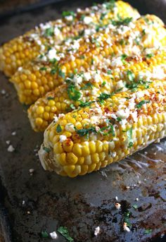 Mexican Corn on the Cob recipe... for a veggie BBQ for veggie Dads.