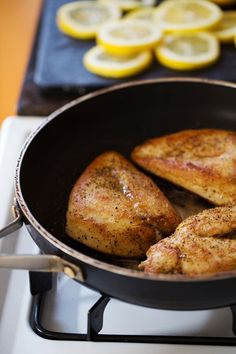 This 5 Ingredient Lemon Chicken with Asparagus is a bright, fresh, healthy dinner that comes together in 20 minutes! So good! #dinner #healthy #chicken #recipe #cleaneating | pinchofyum.com