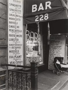 Berenice Abbott, Napolitan Kitchen, West 4th St., circa 1947