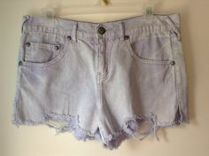 Hey, I found this really awesome Etsy listing at http://www.etsy.com/listing/156827807/free-people-lavender-denim-cutoff-shorts