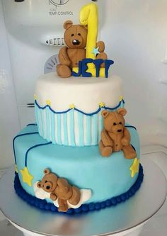 Teddy Bears galore 1st birthday cake