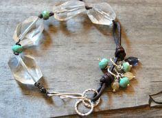 Erin Siegel Jewelry: Learn To Make Leather Links For Jewelry Bohemian Jewelry, Beaded Jewelry, Jewelry Bracelets, Trendy Bracelets, Bangles, Beaded Anklets, Wrap Bracelets, Heart Jewelry, Gyeongju