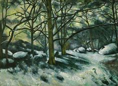 """Paul Cézanne (1839–1906, France), Melting Snow, Fontainebleau, 1879–1880. Oil on canvas, 29 1/8"""" x 39 3/4"""" (74 x 101 cm). © The Museum of Modern Art, New York. (MOMA-P2557)"""