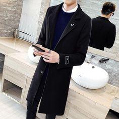 Stylish Jackets, Long Jackets, Cheap Coats, Trench Coat Men, Mens Windbreaker, Mens Fall, Slim Man, Cool Style, Mens Fashion