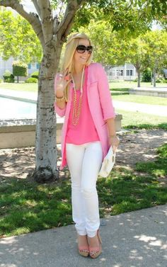 Everything about this outfit is pretty and cute to me...especially b/c it has so much PINK!!! :-)