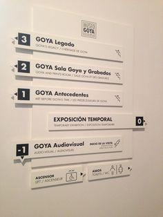 Señalética Museo Goya - Camón Aznar (Zaragoza)
