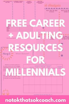 Want LOADS of free resources to help you relieve stress, grow in your career or find a new one, discover your passions, and create a balanced and fulfilling life? This FREE library for millennials has tons and tons of ebooks, worksheets, workbooks, and much more!