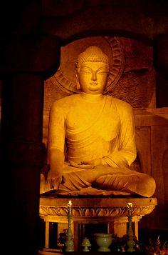 Sakayamuni Buddha, Sokkuram Grotto Temple, Kyongju, South Korea Loved and pinned by www.downdogboutique.com