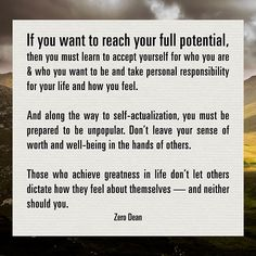 Don't leave your sense of worth and well-being in the hands of others.