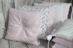 Купить Бортики в кроватку - розовый, бортики в кроватку, бортики в детскую кровать, бортики подушки