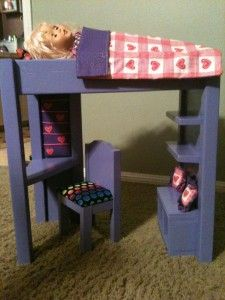 McKenna's Loft Bed (Hack) DIY!   The Porch Swing - free plans for DIY loft bed for AGs