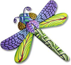 Polymer clay dragonfly broach by Wanda Shum.