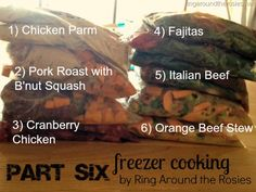 freezer cooking {part 6}
