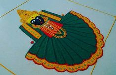 Kolhapur Mahalaxmi Navratri Special Rangoli - Navratri Kolam - Crative Design Rangoli makes our mind happy it has bee. Easy Rangoli Designs Videos, Indian Rangoli Designs, Rangoli Designs Latest, Rangoli Designs Flower, Latest Rangoli, Rangoli Patterns, Colorful Rangoli Designs, Rangoli Ideas, Rangoli Designs Images