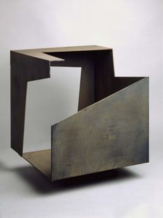 Jorge Oteiza: Empty Box 1958 Welded corten steel x 46 x 46 cm Sculpture Metal, Geometric Sculpture, Abstract Sculpture, Geometric Art, Plaster Sculpture, Concrete Sculpture, Contemporary Sculpture, Contemporary Art, Corten Steel