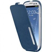 Capa Pele Made For Samsung Original Samsung Galaxy S3 - Azul  R$78,00