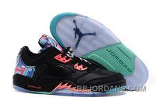 Big Discount 66 OFF Air Jordan 5 Low Chinese New Year Black Bright Crimson Hyper Jade