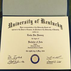 My diploma is finally here! #UKalumna #englishdegree #collegegrad