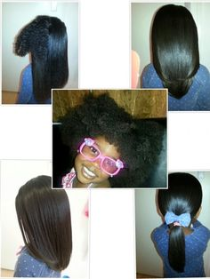 3.5 year old Na'Eliah - Blow dried And Flat Ironed Hair Shared By Michelle - Black Hair Information Community