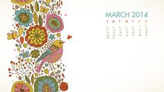 March is almost here! Below are my free March 2014 desktop calendars…. If you are interested here are directions on installing one of these wallpapers on your mac or your pc. Free Desktop Wallpaper, Computer Wallpaper, Wallpaper Backgrounds, Printable Crafts, Free Printables, Desktop Calendars, Graphic Illustration, Illustrations, Flower Graphic