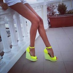 Neon colored wedges