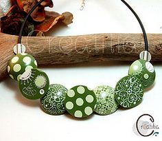 Collier fimo bobotta vert | Flickr - Photo Sharing!