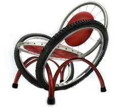 tire chair. Bicycle tire